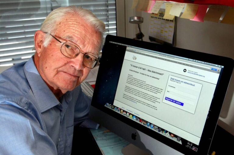 B. Christian Jenssen, leder av Pensjonistpartiet i Bærum